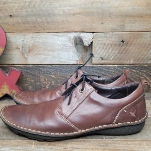 Pikolinos Soft Rustic/Aged Leather Lace Up Shoes